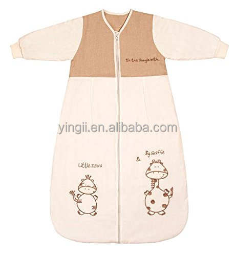 Plush Winter Baby Sleeping Bag Long Sleeves Tog Cartoon Animal cover 0-6 Months 28 inch prevent Infant Kick the Quilt