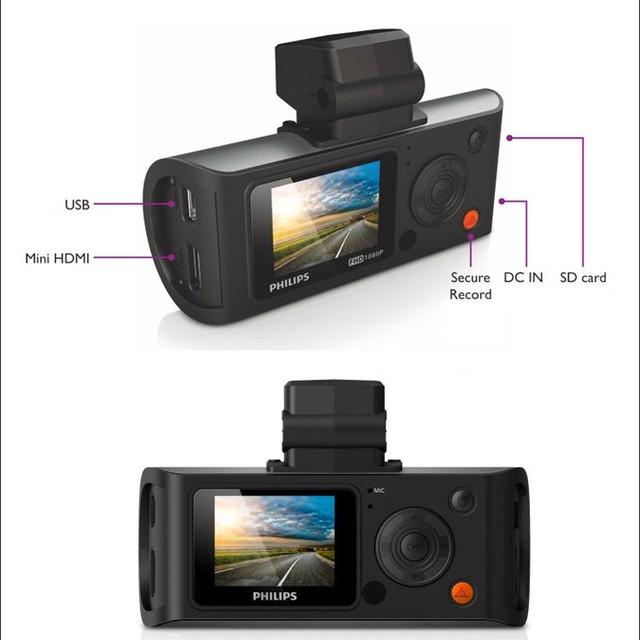 Philips auto video registrator camera recorder dvr camera with CE ROHS FCC certification
