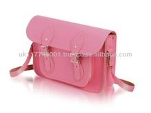 ANU London Satchel 11.5 inch - Traditional British Satchel Bags *Handmade in England* - Pink
