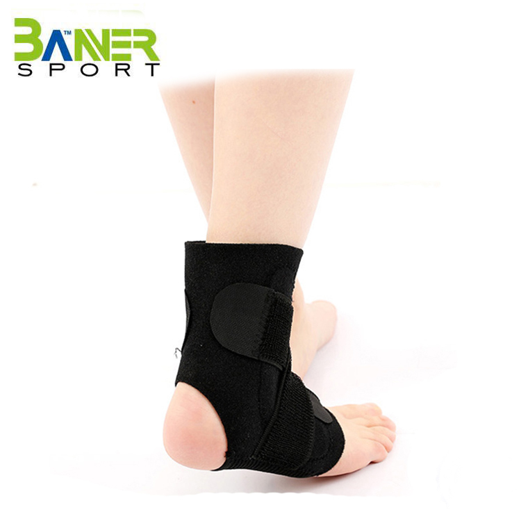 Neoprene adujstable ankle stabilizer brace support wraps sleeve for ankle protector guard for Football sports