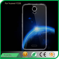 mobile phone protector clear transparent back cover ultra slim tpu case for huawei y336