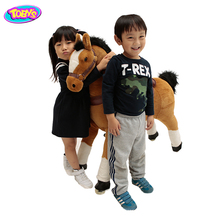 kids walking toy with rubber wheels horse ride on toy