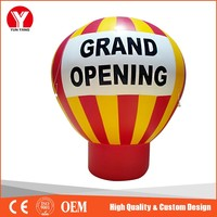 Red&Yellow inflatable earth balloons,Inflatable advertising balloon