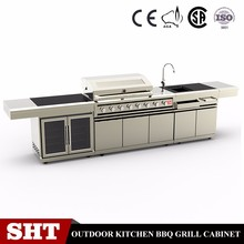 prefabricated 2017 outdoor Furniture Modern kitchens cabinets bbq for garden on sale