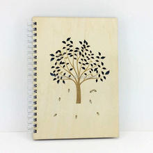 wish tree wood journal book laser cut out notebook