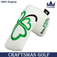 Wholesale Brand Lucky Clover White Leather Putter Golf Head Covers