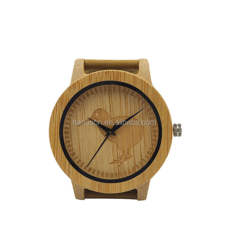 Newest design fashion mens wooden watches 2016 2017 welcome Custom watch face and watch back