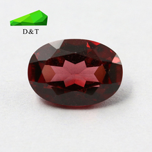 wholesale natural loose gemstone rough oval red garnet
