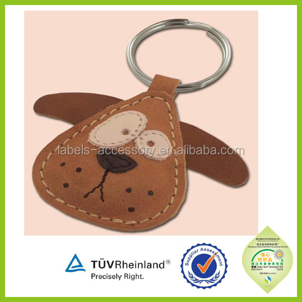 custom made branded make leather key chain
