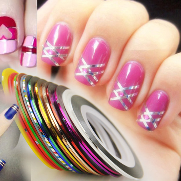 Nail Art Using Painters Tape: Nail Art Striping Tape For Nail Art Design