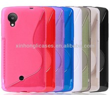 S line matte soft tpu case cover For google,lg Nexus5