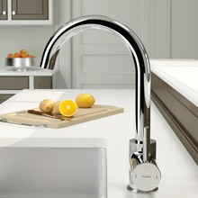 Modern Brass Cold And Warm Mixer Kitchen Sink Faucet
