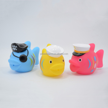 Hot Sale Promotional Rubber Fish Bath Squirt Toy Set for Baby