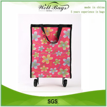 2015 recycled laminated pp woven wheel promotion bag, wheel shopping bag