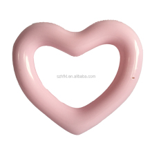hot pink heart shape inflatable pool float swimming ring