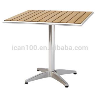 ICAN plywood and aluminum bistro table