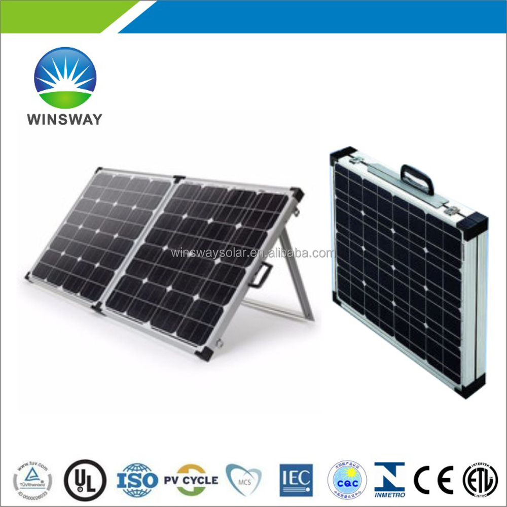 Portable 120W Folding Solar PV Module Panels for Camping and Solar Home System