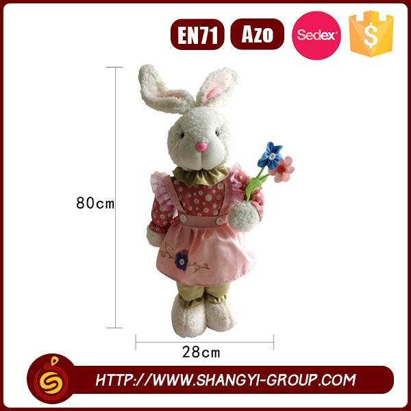 Lovely decoration easter plush rabbit