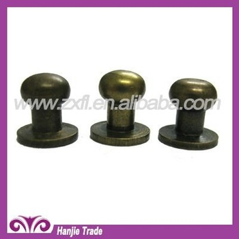 Bulk Antique Brass Punk Nipple Screw metal button studs