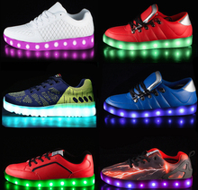 Rainbow color flashing changing hello kitty led shoes