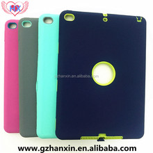 Silicone shockproof heavy duty case for iPad 2/3/4/air tablet ,for iPad air 2 Robert case