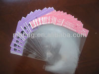 Plain seal plastic bags for hair extensions