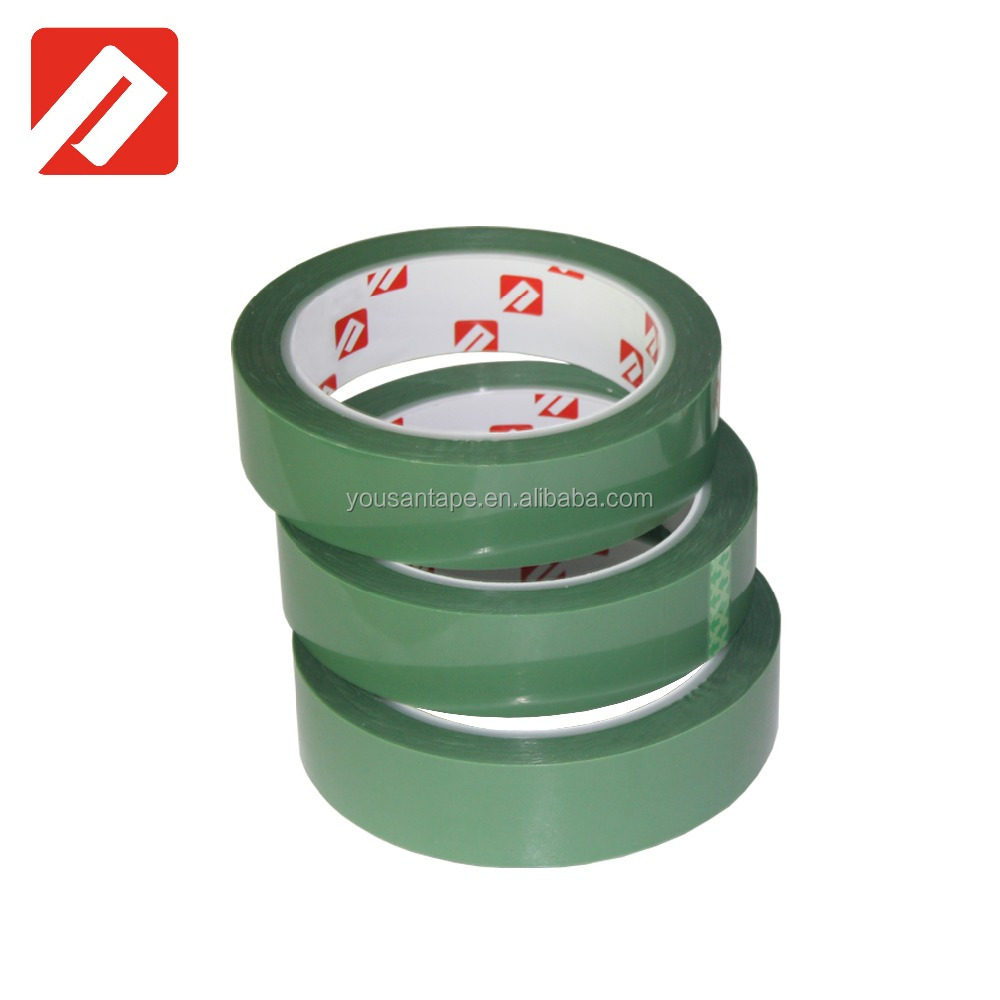 Free <strong>Sample</strong>!! Manual packing green pet tape heating resistance pet green tape