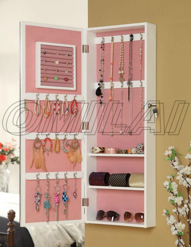 Aparadores Olaio ~ Madera enmarcado espejos armario de la joyería display Armarios de madera Identificación del