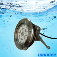 High quality 316 stainless steel IP68 LED underwater lights for swimming pool/ fountain