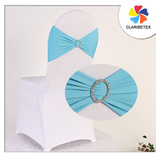 Blue Cheap Lycra buckle chair sash band/ spandex chair cover for wedding