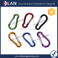 Wholesale Colorful Ear Shape Aluminum Key Split Ring