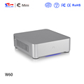 OEM PC aluminum chassis E-W60 with logo printing Mini itx chassis Htpc case