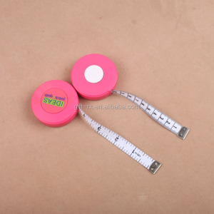 Round shape plastic advertsing mini 3M retractable tape measure