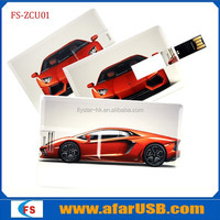 2015 factory price custom full color printing 2 sides usb card,usb business stick 8gb, pen drive for promotional gift