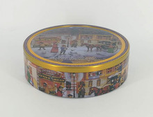 Round Biscuit Tin Can