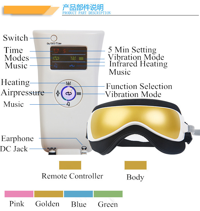 Hot Sale On Amazon Product Vibration Eye Massage Machine With CE.RoHS FCL-M23 Eye Care Massager