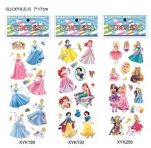 Free shipping5 wholesale 1000pcs PVC sticker princess 3D stickers cartoon characters promotion gift puffy stickers