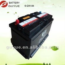 maintenance free and dry car battery 6QW-84