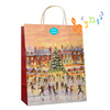 High quality singing christmas paper gift bags