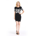 ladies printed t shirt dress,sport dress for women