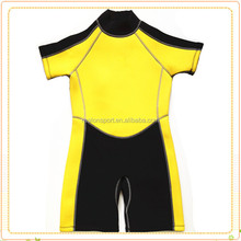 Diving Swim Surf Kids Yellow Shorty Wetsuit