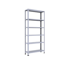 Metal custom powder coated slotted angle boltless iron rack