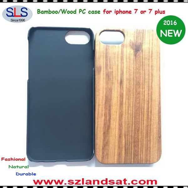 2017 New custom bamboo wood pc tpu phone case for iphone 6 7 plus IPC368A