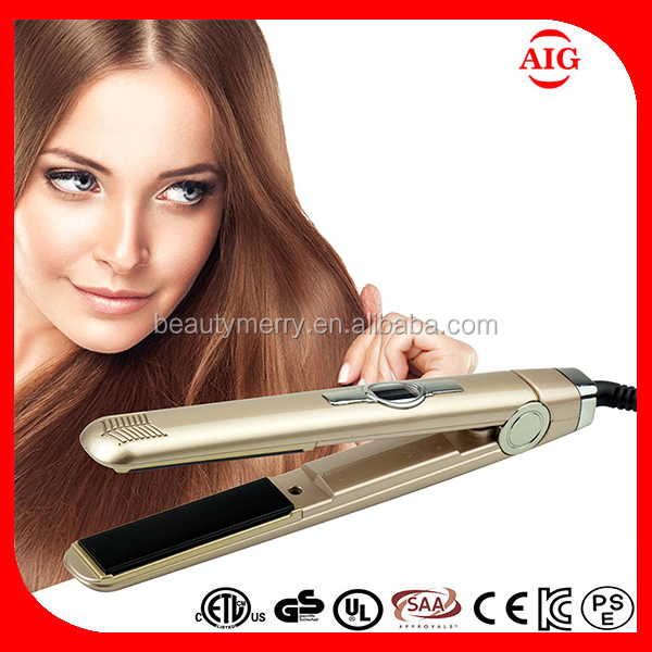 Sensor touch control Profeesional Electric ionic hair flat iron,electric hair straightening irons/portable hair straightener