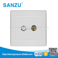 Professional Switch Factory British Standard Satellite and TV Socket, 2 Gang Television Satellite Socket