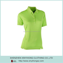 Slim Fitted Dry-Fit Jersey Short Sleeve Fresh Green Golf Polos
