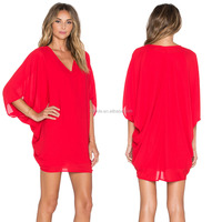 ladies caftan dress,v neck one size fit all women casual caftan dress manufacture wholesale