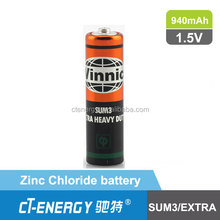 vinnic battery 1.5v r6 sum3 carbon zinc battery