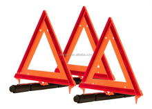 car and truck accident warning triangle