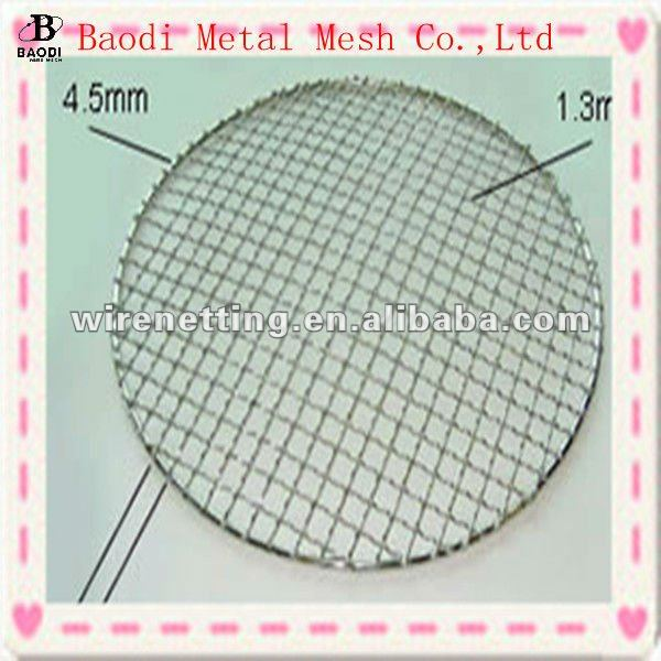 disposable galvanised crimped barbecue wire mesh